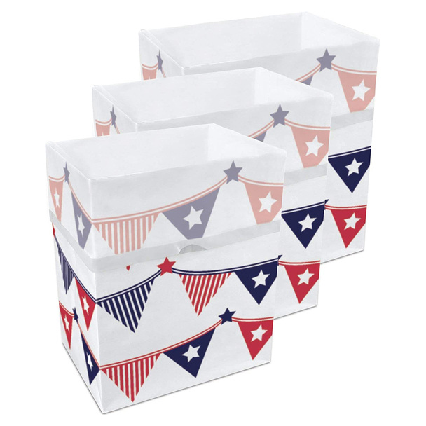 13 Gallon Clean Cubes, 3 Pack (4th of July Pattern)