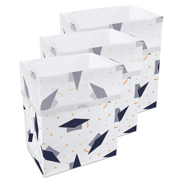13 Gallon Clean Cubes, 3 Pack (Graduation Pattern)