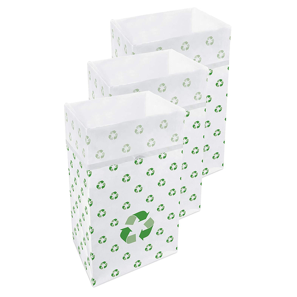 30 Gallon Clean Cubes, 3 Pack (Recycle Pattern)