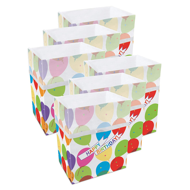 13 Gallon Clean Cubes, 6 Pack (Birthday Pattern)