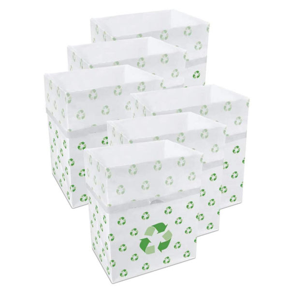 13 Gallon Clean Cubes, 6 Pack (Recycle Pattern)