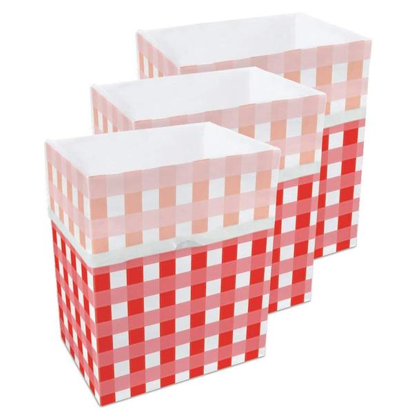 13 Gallon Clean Cubes, 3 Pack (Picnic Pattern)