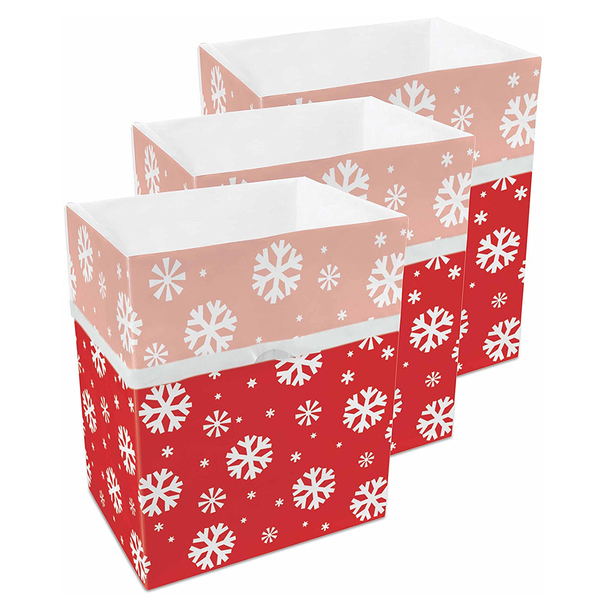 13 Gallon Clean Cubes, 3 Pack (Snowflake Pattern)