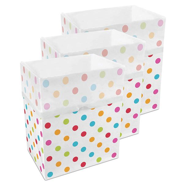 13 Gallon Clean Cubes, 3 Pack (Polka Dot)